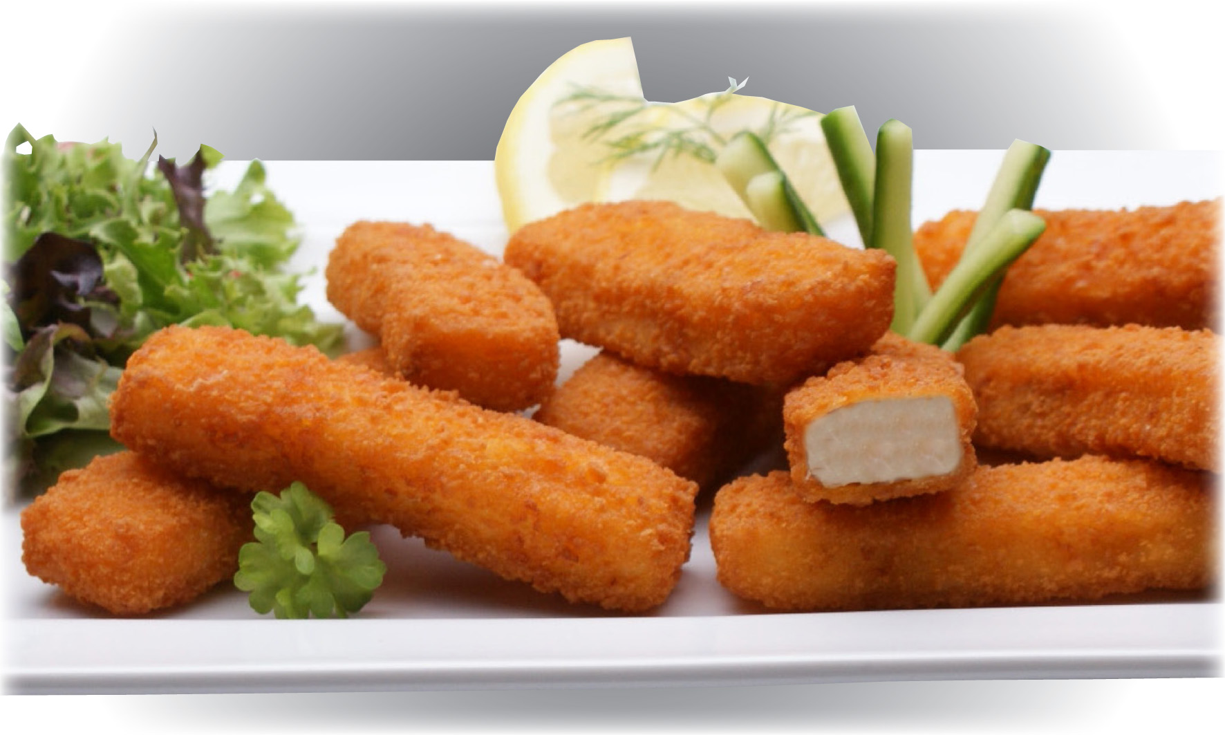 Breaded Products Recipes Fish Fingers With Side Salad
