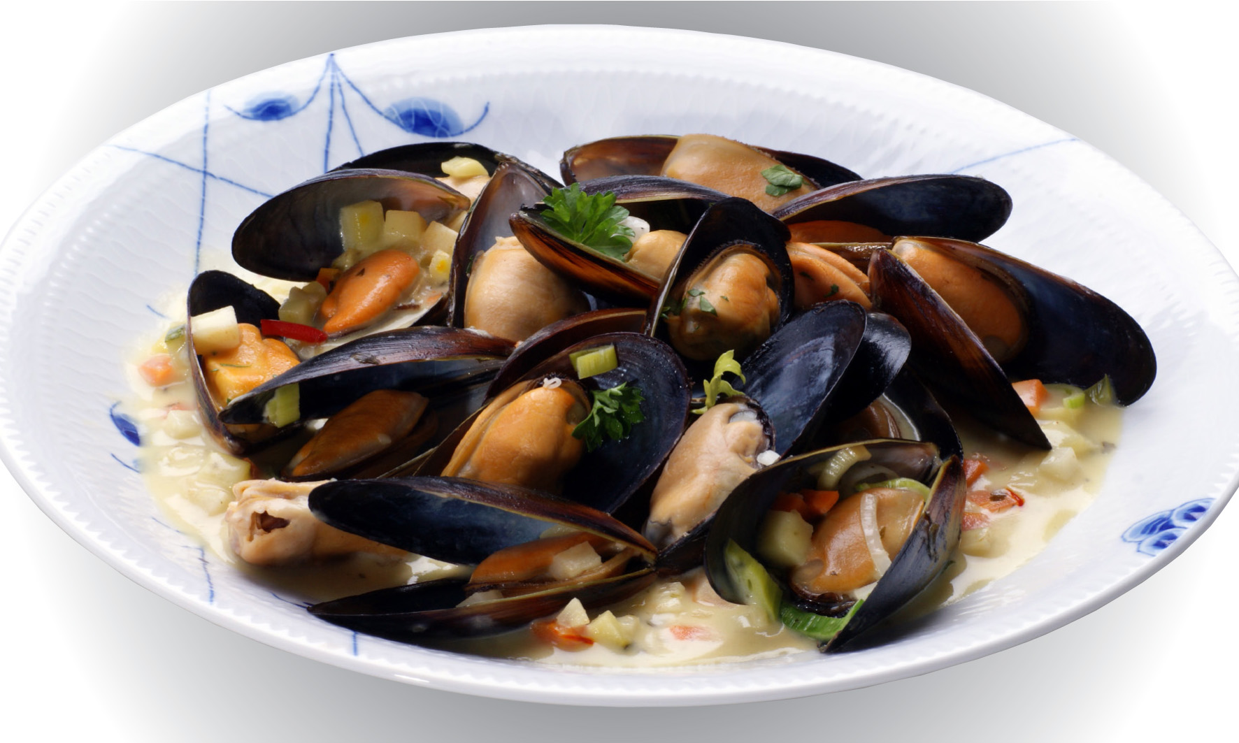 Mussels and Scallops - Recipes Mussels in cream of saffron